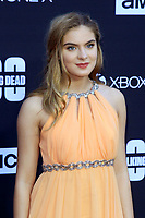"""LOS ANGELES - OCT 22:  Brighton Sharbino at the """"The Walking Dead"""" 100th Episode Celebration at the Greek Theater on October 22, 2017 in Los Angeles, CA"""