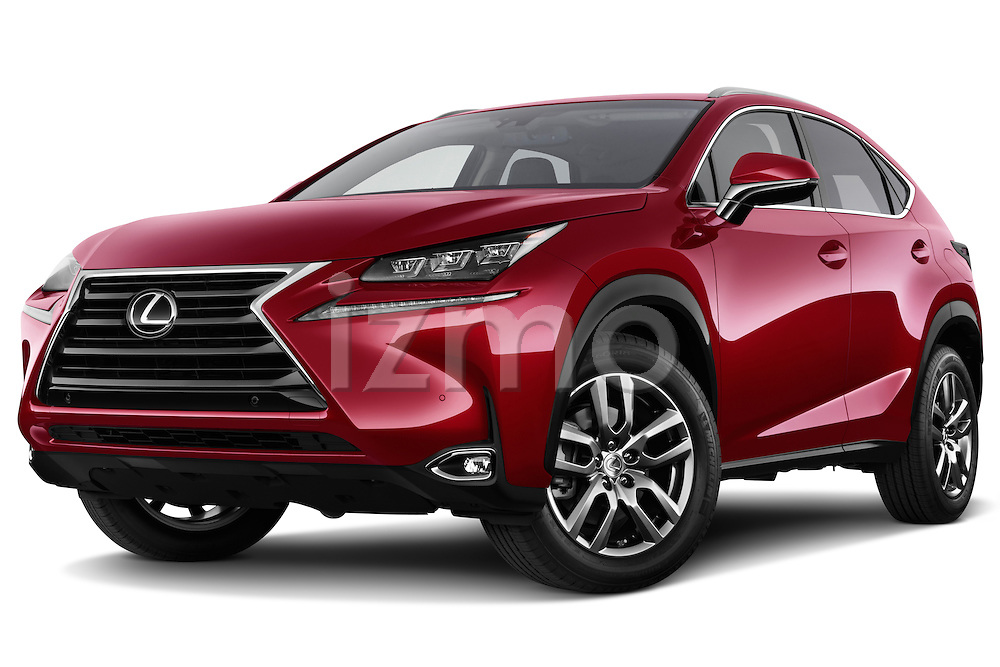 Stock pictures of low aggressive front three quarter view of a 2015 Lexus NX NX 200t 5 Door SUV Low Aggressive