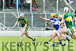 At the Leinster Senior Hurling Championship Round Robin Kerry V LAOIS at Austin Stack Park on Sunday. Pictured Kerry's Padraig Boyle get away from Laois