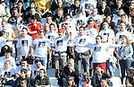 FUDBAL, BEOGRAD, 23. Oct. 2010. - Navijacka grupa Orlovi sa majicama posvecenim predsedniku FSS-a Tomislavu Karadzicu. Utakmica 9. kola Jelen Superlige Srbije (2010/2011) izmedju Crvene zvezde i Partizana - 139. 'veciti derbi'. Foto: Nenad Negovanovic