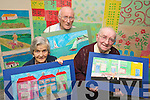 Mary O'Connor, Paddy Conway and Denis Mannix of Cuil Didin art group pictured on Monday.