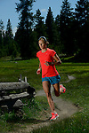 BEND, OREGON - MAY 25:  Professional Athlete Linsey Corbin poses for a photo on May 25, 2014 at the at Mt Bachelor in Bend, Oregon.  (Photo by Donald Miralle for LAVA Magazine)
