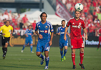 03 July 2013: Montreal Impact defender Alessandro Nesta #14 and Toronto FC forward Jeremy Brockie #22 in action during an MLS game between the Montreal Impact and Toronto FC at BMO Field in Toronto, Ontario Canada.
