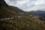 The mountains near the village of Al Qaeda, Yemen Nov. 29, 2009. Lawlessness, growing poverty, a water crisis, a raging conflict with Houthi rebels in Yemen's north and clashes with separatists in the South continue to destabilize the Arabian Peninsula's poorest state.