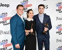 LOS ANGELES - MAR 3:  Billy Magnussen, Aubrey Plaza, Matt Spicer_ at the 2018 Film Independent Spirit Awards at the Beach on March 3, 2018 in Santa Monica, CA