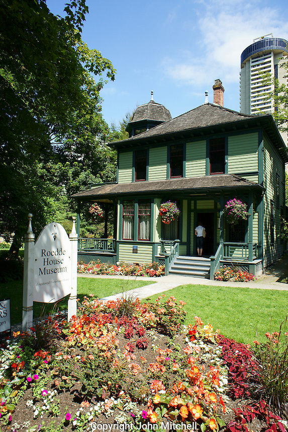 The Roedde House Museum in downtown Vancouver, Brtitish Columbia, Canada.