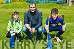 Eoin Looney, Brendan Hartnett and Robbie Hartnett enjoying the Monastry NS pitch and putt fundraiser on Monday