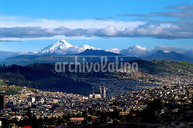 View of Quito , the capital city of Ecuador