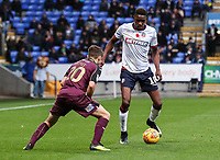Bolton Wanderers' Sammy Ameobi competing with Swansea City's Daniel James <br /> <br /> Photographer Andrew Kearns/CameraSport<br /> <br /> The EFL Sky Bet Championship - Bolton Wanderers v Swansea City - Saturday 10th November 2018 - University of Bolton Stadium - Bolton<br /> <br /> World Copyright © 2018 CameraSport. All rights reserved. 43 Linden Ave. Countesthorpe. Leicester. England. LE8 5PG - Tel: +44 (0) 116 277 4147 - admin@camerasport.com - www.camerasport.com
