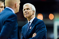 Washington, DC - MAR 10, 2018: Davidson Wildcats head coach Bob McKillop on the sideline during semi final match up of the Atlantic 10 men's basketball championship between Davidson and St. Bonaventure at the Capital One Arena in Washington, DC. (Photo by Phil Peters/Media Images International)