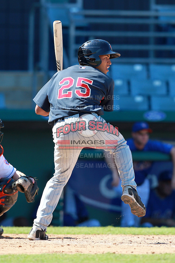Minnesota Twins minor league outfielder Eddie Rosario (25) during a game vs. the New York Mets in an Instructional League game at City of Palms Park in Fort Myers, Florida;  October 4, 2010.  Photo By Mike Janes/Four Seam Images