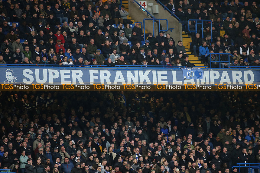 Chelsea fans enjoy a 4-0 victory against Everton and the song Super Frankie Lampard echoed around the ground in the second half during Chelsea vs Everton, Premier League Football at Stamford Bridge on 8th March 2020