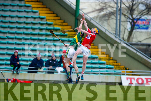 Brandon Barrett Kerry  in action against  Cork in the Co-op Superstores Munster Senior Hurling League on Sunday 14th January in Austin Stack Park, Tralee.