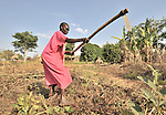 Esther Muriba prepares her ground for planting in the Southern Sudan village of Ligitolo. Families here are rebuilding their lives after returning from refuge in Uganda in 2006 following the 2005 Comprehensive Peace Agreement between the north and south. NOTE: In July 2011, Southern Sudan became the independent country of South Sudan