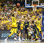 05.06.2019, Mercedes Benz Arena, Berlin, GER, ALBA BERLIN vs.  Oldenburg, <br /> im Bild Peyton Siva (ALBA Berlin #3), Luke Sikma (ALBA Berlin #43),<br /> Philipp Schwethelm (Baskets Oldenburg #33), Rasid Mahalbasic (Baskets Oldenburg #24), William Cummings (Baskets Oldenburg #3)<br /> <br />      <br /> Foto © nordphoto / Engler