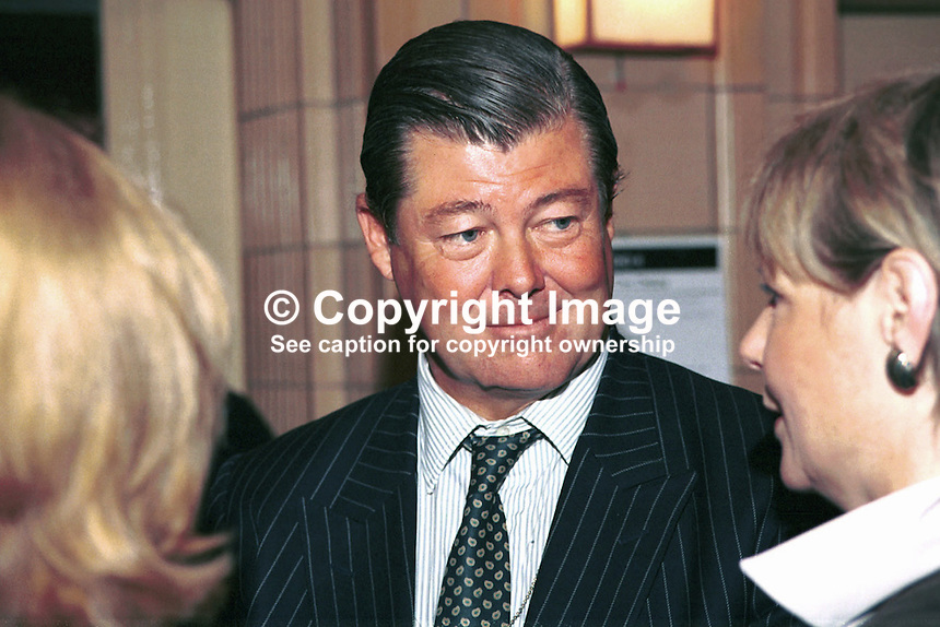 Sir Nicholas Bonsor, Ex-MP, Conservative Party, Britain, UK, Ref:199710174, Taken at Conservative Conference in Winter Garden, Blackpool..Copyright Image from Victor Patterson, 54 Dorchester Park, Belfast, UK, BT9 6RJ..Tel: +44 28 9066 1296.Mob: +44 7802 353836.Voicemail +44 20 8816 7153.Skype: victorpattersonbelfast.Email: victorpatterson@mac.com.Email: victorpatterson@ireland.com (back-up)..IMPORTANT: If you wish to use this image or any other of my images please go to www.victorpatterson.com and click on the Terms & Conditions. Then contact me by email or phone with the reference number(s) of the image(s) concerned.