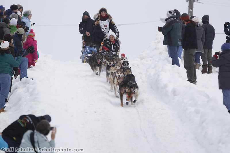 Anna Berington Saturday, March 3, 2012  Ceremonial Start of Iditarod 2012 in Anchorage, Alaska.