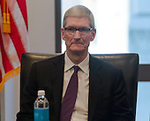 Apple CEO Tim Cook is seen at a meeting of technology leaders in the Trump Organization conference room at Trump Tower in New York, NY, USA on December 14, 2016. <br /> Credit: Albin Lohr-Jones / Pool via CNP