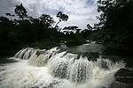 Belize - SEPTEMBER 14, 2007: The Rio Blanco Waterfall just past Santa Cruz on September 14, 2007 in Belize.  (PHOTOGRAPH BY MICHAEL NAGLE)