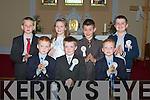 Pupils from Kilflynn National School who made their Holy Communion on Saturday in Kilflynn. Front l-r: Darragh Murnane, Jack McKenna and Sean Murnane. Back l-r: Darragh O'Donoghue, Sarah Corkery, Aodhan McKenna and Eamonn Rohan (missing were: Daniel O'Rourke, Daniel Quirke, Tirna Brosnan and Martina McElligott..