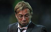 DORTMUND, ALEMANHA, 18 SETEMBRO 2012 - LIGA DOS CAMPEOES - BORUSSIA DORTMUND X AJAX -  O treinador Juergen Klopp do Borussia Dortmund (ALE) durante partida contra o Ajax (HOL) em partida valida pela primeira rodada do Grupo D da Liga dos Campeos da Europa,no Westfalenstadion em Dortmund na Alemanha,  nesta terca-feira, 18,  (FOTO: PIXATHLON / BRAZIL PHOTO PRESS).