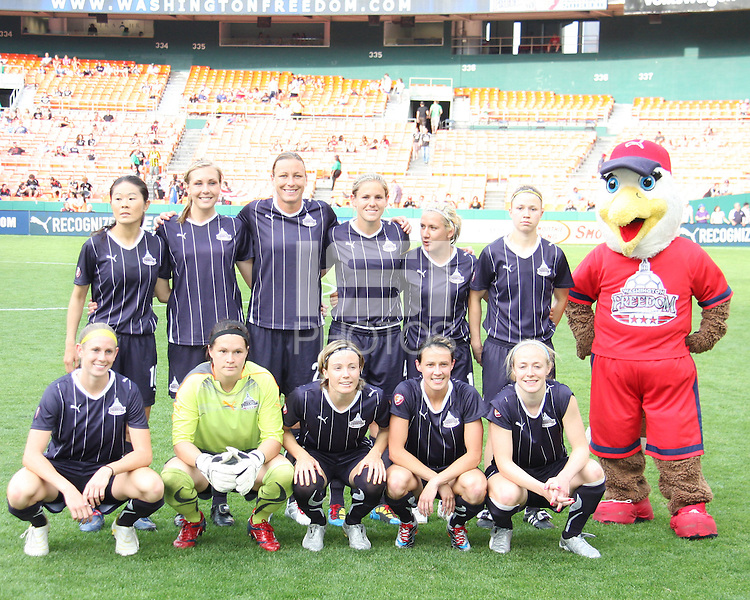 Starting eleven of the Washington Freedom during a WPS match against ST. Louis Athletica on May 1 2010, at RFK Stadium, in Washington D.C. Freedom won 3-1.