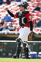 May 5th 2008:  Catcher Wyatt Toregas of the Buffalo Bisons, Class-AAA affiliate of the Cleveland Indians, during a game at Dunn Tire Park in Buffalo, NY.  Photo by Mike Janes/Four Seam Images