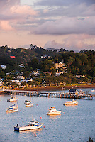 Russell at sunset, Bay of Islands, Northland Region, North Island, New Zealand
