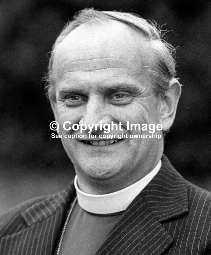 Dr Robin Eames, Bishop of Derry &amp; Raphoe, Church of Ireland, 1978939109a.<br /> <br /> Copyright Image from Victor Patterson,<br /> 54 Dorchester Park, <br /> Belfast, UK, BT9 6RJ<br /> <br /> t1: +44 28 9066 1296 (from Rep of Ireland 048 9066 1296)<br /> t2: +44 28 9002 2446 (from Rep of Ireland 048 9002 2446)<br /> <br /> m: +44 7802 353836<br /> <br /> e: victorpatterson@me.com<br /> www.victorpatterson.com<br /> <br /> Please see my Terms and Conditions of Use at www.victorpatterson.com. It is IMPORTANT that you familiarise yourself with them.<br /> <br /> Images used on the Internet must be visibly watermarked i.e. &copy; Victor Patterson<br /> within the body of the image and copyright metadata must not be deleted. Images <br /> used on the Internet have a size restriction of 4kbs and will be chargeable at current<br />  NUJ rates unless agreed otherwise.<br /> <br /> This image is only available for the use of the download recipient i.e. television station, newspaper, magazine, book publisher, etc, and must not be passed on to any third <br /> party. It is also downloaded on condition that each and every usage is notified within 7 days to victorpatterson@me.com<br /> <br /> The right of Victor Patterson to be identified as the author is asserted in accordance with The Copyright Designs And Patents Act (1988). All moral rights are asserted.
