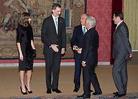 Queen Letizia, King Felipe VI and President of the Portuguese Republic, Mr. Marcelo Rebelo de Sousa
