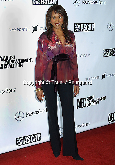Deborah Cox arriving at the 3rd Annual Empowerment Coalition Pre-Grammy Brunch at the bevely Hilton in Los Angeles. February 12, 2005.