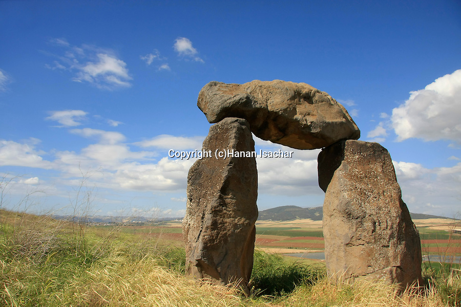 Israel, Harod valley, Berny Fink's ''Gateway to the Valley'' sculpture by Tel Jezreel .