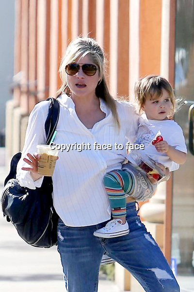 Selma Blair with son out in Brentwood, 13.01.2014.<br /> Credit: Vida/face to face