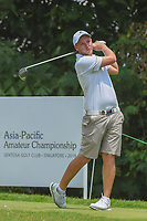 Shae WOOLS-COBB (AUS) watches his tee shot on 5 during Rd 2 of the Asia-Pacific Amateur Championship, Sentosa Golf Club, Singapore. 10/5/2018.<br /> Picture: Golffile | Ken Murray<br /> <br /> <br /> All photo usage must carry mandatory copyright credit (© Golffile | Ken Murray)