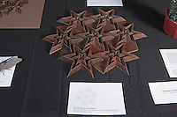 OrigamiUSA Convention 2015 Exhibition. Davidic Resch Tessellation 1 designed and folded by Robert Lang, CA.