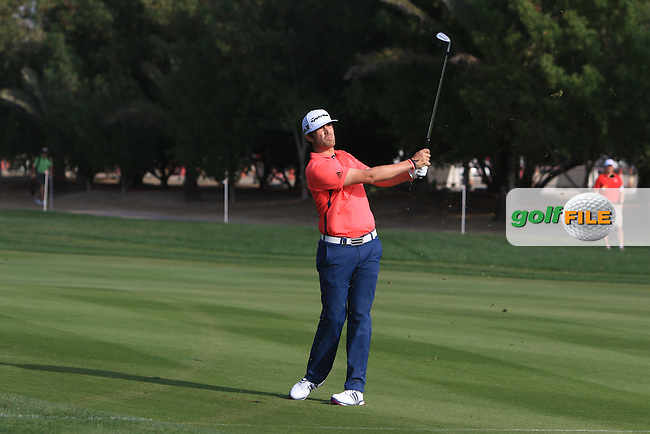 Nacho Elvira (ESP) on the 2nd fairway during Round 4 of the Abu Dhabi HSBC Championship on Sunday 22nd January 2017.<br /> Picture:  Thos Caffrey / Golffile<br /> <br /> All photo usage must carry mandatory copyright credit     (&copy; Golffile | Thos Caffrey)