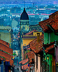 Colombia, Bogota, Historic La Candelaria Neighborhood,  17th Century Cupola Of The College of San Bartolome, Spanish Colonial, South America