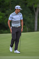 Rafael Cabrera Bello (ESP) barely misses his birdie putt on 17 during round 3 of the AT&T Byron Nelson, Trinity Forest Golf Club, Dallas, Texas, USA. 5/11/2019.<br /> Picture: Golffile | Ken Murray<br /> <br /> <br /> All photo usage must carry mandatory copyright credit (© Golffile | Ken Murray)