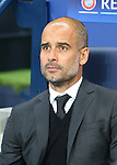 Josep Guardiola manager of Manchester City during the UEFA Champions League Group C match at The Etihad Stadium, Manchester. Picture date: September 14th, 2016. Pic Simon Bellis/Sportimage