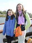 Eve Corey and Claire Donnelly pictured aboard the tallships. Photo:Colin Bell/pressphotos.ie