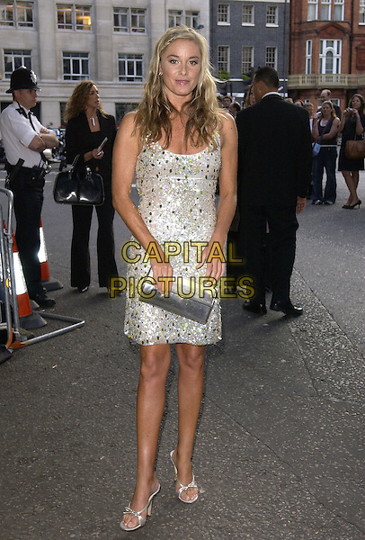 TAMZIN OUTHWAITE.Attends the Glamour Women of the Year Awards 2005,.Berkeley Square, London, .June 7th 2005..full length grey silver beaded sequined dress  shoes clutch bag.Ref: FIN.www.capitalpictures.com.sales@capitalpictures.com.©Steve Finn/Capital Pictures.