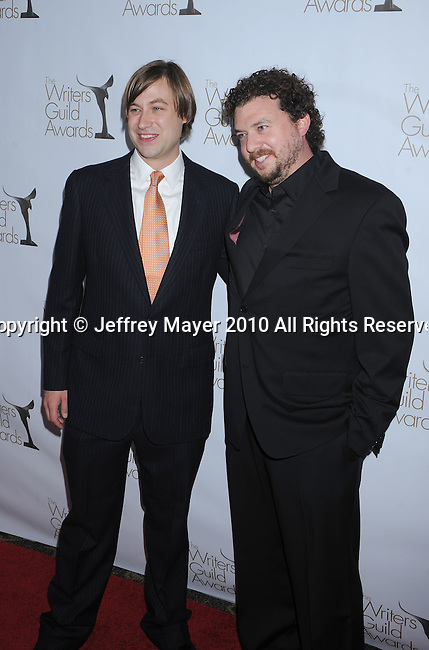 CENTURY CITY, CA. - February 20: Jody Hill and Danny McBride arrive at the 2010 Writers Guild Awards at the Hyatt Regency Century Plaza Hotel on February 20, 2010 in Los Angeles, California.