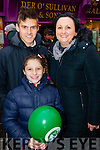 Enjoying the Tralee Christmas Parade on Saturday were l-r: Niall Sertutxa Alazne Sertutxa and Clodagh Moynihan