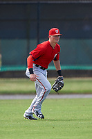 Washington Nationals Drew Vettleson (5) during practice before a minor league Spring Training game against the Detroit Tigers on March 21, 2016 at Tigertown in Lakeland, Florida.  (Mike Janes/Four Seam Images)
