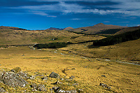Looking towards Ben Challum from Sron Garbh, An Caisteal above Crianlarich, Loch Lomond and the Trossachs National Park, Stirlingshire