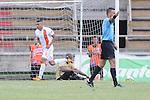 Envigado logró vencer 0 – 1 a Itagüí en territorio antioqueño en compromiso correspondiente a la novena fecha del Torneo Clausura Colombiano 2013 /  Diego Álvarez celebra el único tanto del compromiso