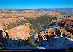 Rim View in Winter, Bryce Canyon National Park, Utah