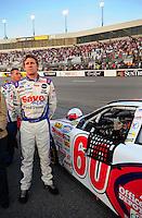 May 2, 2008; Richmond, VA, USA; NASCAR Nationwide Series driver Carl Edwards during the Lipton Tea 250 at the Richmond International Raceway. Mandatory Credit: Mark J. Rebilas-