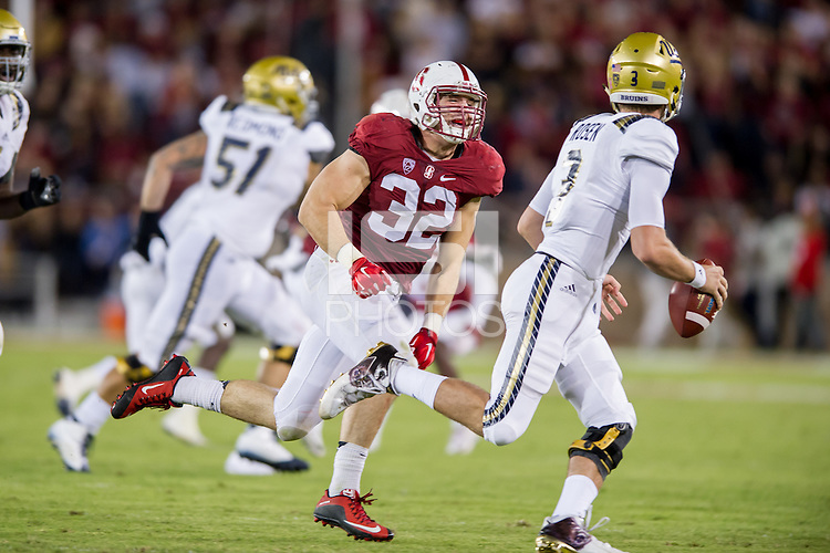 Stanford, CA, October 15, 2015<br /> Stanford Football vs. University of California at Los Angeles. Stanford won 56-35.