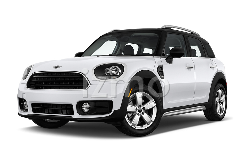 Stock pictures of low aggressive front three quarter view of 2017 MINI Countryman 5-Door 5 Door Hatchback Low Aggressive